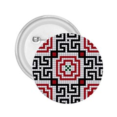 Vintage Style Seamless Black White And Red Tile Pattern Wallpaper Background 2 25  Buttons