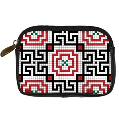 Vintage Style Seamless Black White And Red Tile Pattern Wallpaper Background Digital Camera Cases