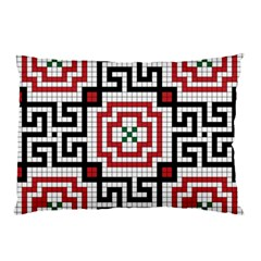 Vintage Style Seamless Black White And Red Tile Pattern Wallpaper Background Pillow Case (Two Sides)
