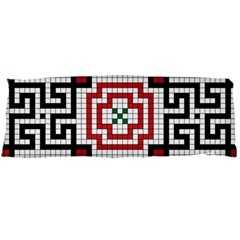 Vintage Style Seamless Black White And Red Tile Pattern Wallpaper Background Body Pillow Case Dakimakura (Two Sides)