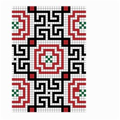 Vintage Style Seamless Black White And Red Tile Pattern Wallpaper Background Large Garden Flag (Two Sides)