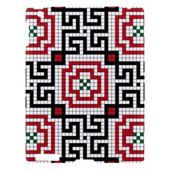Vintage Style Seamless Black White And Red Tile Pattern Wallpaper Background Apple iPad 3/4 Hardshell Case