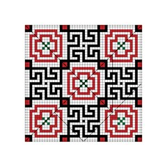 Vintage Style Seamless Black White And Red Tile Pattern Wallpaper Background Acrylic Tangram Puzzle (4  x 4 )