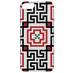 Vintage Style Seamless Black White And Red Tile Pattern Wallpaper Background Apple iPhone 5 Classic Hardshell Case