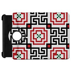 Vintage Style Seamless Black White And Red Tile Pattern Wallpaper Background Kindle Fire HD 7
