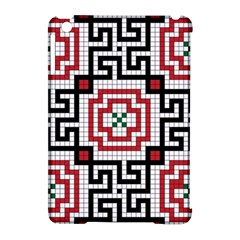 Vintage Style Seamless Black White And Red Tile Pattern Wallpaper Background Apple iPad Mini Hardshell Case (Compatible with Smart Cover)