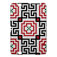 Vintage Style Seamless Black White And Red Tile Pattern Wallpaper Background Kindle Fire Hd 8 9