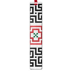 Vintage Style Seamless Black White And Red Tile Pattern Wallpaper Background Large Book Marks