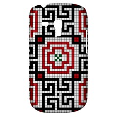 Vintage Style Seamless Black White And Red Tile Pattern Wallpaper Background Galaxy S3 Mini