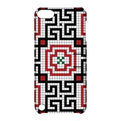 Vintage Style Seamless Black White And Red Tile Pattern Wallpaper Background Apple Ipod Touch 5 Hardshell Case With Stand