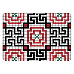 Vintage Style Seamless Black White And Red Tile Pattern Wallpaper Background Samsung Galaxy Tab 8.9  P7300 Flip Case