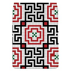Vintage Style Seamless Black White And Red Tile Pattern Wallpaper Background Flap Covers (S)
