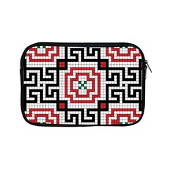Vintage Style Seamless Black White And Red Tile Pattern Wallpaper Background Apple iPad Mini Zipper Cases