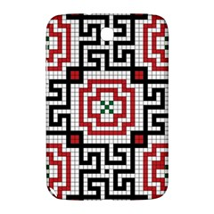 Vintage Style Seamless Black White And Red Tile Pattern Wallpaper Background Samsung Galaxy Note 8.0 N5100 Hardshell Case