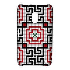 Vintage Style Seamless Black White And Red Tile Pattern Wallpaper Background Nokia Lumia 620