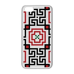 Vintage Style Seamless Black White And Red Tile Pattern Wallpaper Background Apple Iphone 5c Seamless Case (white)