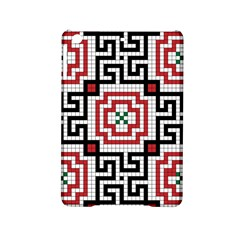 Vintage Style Seamless Black White And Red Tile Pattern Wallpaper Background iPad Mini 2 Hardshell Cases