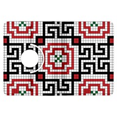 Vintage Style Seamless Black White And Red Tile Pattern Wallpaper Background Kindle Fire HDX Flip 360 Case