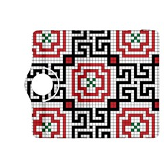 Vintage Style Seamless Black White And Red Tile Pattern Wallpaper Background Kindle Fire HDX 8.9  Flip 360 Case