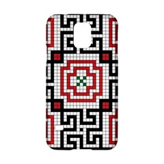 Vintage Style Seamless Black White And Red Tile Pattern Wallpaper Background Samsung Galaxy S5 Hardshell Case