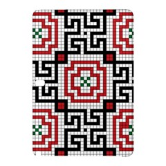 Vintage Style Seamless Black White And Red Tile Pattern Wallpaper Background Samsung Galaxy Tab Pro 12.2 Hardshell Case