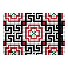 Vintage Style Seamless Black White And Red Tile Pattern Wallpaper Background Samsung Galaxy Tab Pro 10.1  Flip Case