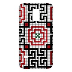 Vintage Style Seamless Black White And Red Tile Pattern Wallpaper Background Galaxy S5 Mini