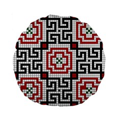 Vintage Style Seamless Black White And Red Tile Pattern Wallpaper Background Standard 15  Premium Flano Round Cushions