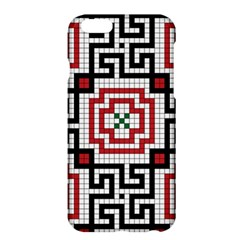 Vintage Style Seamless Black White And Red Tile Pattern Wallpaper Background Apple iPhone 6 Plus/6S Plus Hardshell Case