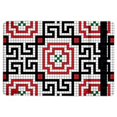 Vintage Style Seamless Black White And Red Tile Pattern Wallpaper Background iPad Air 2 Flip