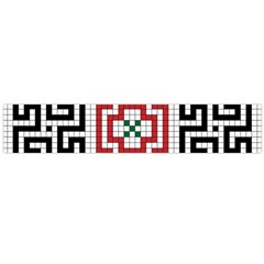 Vintage Style Seamless Black White And Red Tile Pattern Wallpaper Background Flano Scarf (Large)