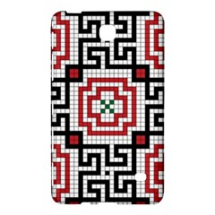 Vintage Style Seamless Black White And Red Tile Pattern Wallpaper Background Samsung Galaxy Tab 4 (7 ) Hardshell Case