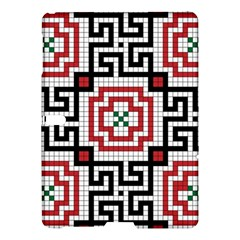 Vintage Style Seamless Black White And Red Tile Pattern Wallpaper Background Samsung Galaxy Tab S (10.5 ) Hardshell Case