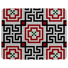 Vintage Style Seamless Black White And Red Tile Pattern Wallpaper Background Jigsaw Puzzle Photo Stand (Rectangular)