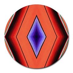 Diamond Shape Lines & Pattern Round Mousepads