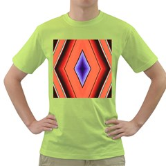 Diamond Shape Lines & Pattern Green T-Shirt