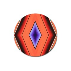 Diamond Shape Lines & Pattern Magnet 3  (Round)