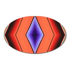 Diamond Shape Lines & Pattern Oval Magnet