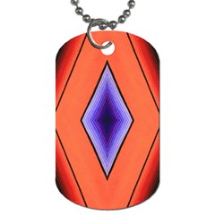 Diamond Shape Lines & Pattern Dog Tag (One Side)