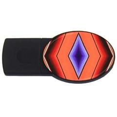 Diamond Shape Lines & Pattern USB Flash Drive Oval (1 GB)