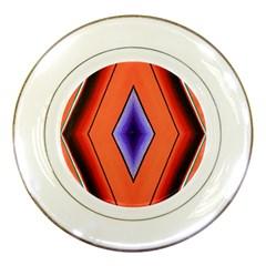 Diamond Shape Lines & Pattern Porcelain Plates