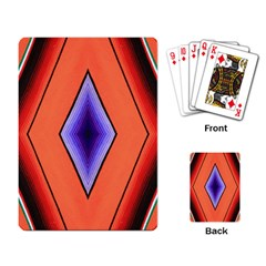 Diamond Shape Lines & Pattern Playing Card