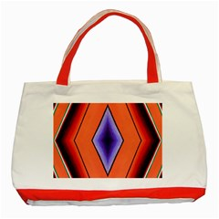 Diamond Shape Lines & Pattern Classic Tote Bag (Red)