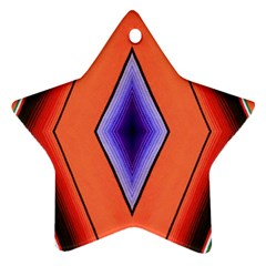 Diamond Shape Lines & Pattern Star Ornament (two Sides)
