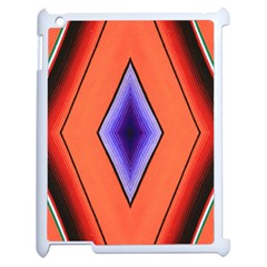 Diamond Shape Lines & Pattern Apple iPad 2 Case (White)