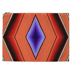 Diamond Shape Lines & Pattern Cosmetic Bag (XXL)
