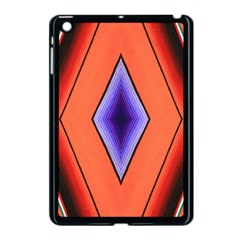 Diamond Shape Lines & Pattern Apple iPad Mini Case (Black)