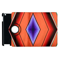 Diamond Shape Lines & Pattern Apple Ipad 3/4 Flip 360 Case