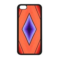 Diamond Shape Lines & Pattern Apple iPhone 5C Seamless Case (Black)