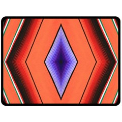 Diamond Shape Lines & Pattern Double Sided Fleece Blanket (large)